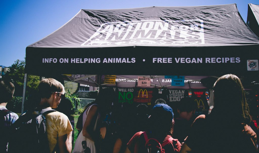 Action for Animals booth at SLC VegFest 2016