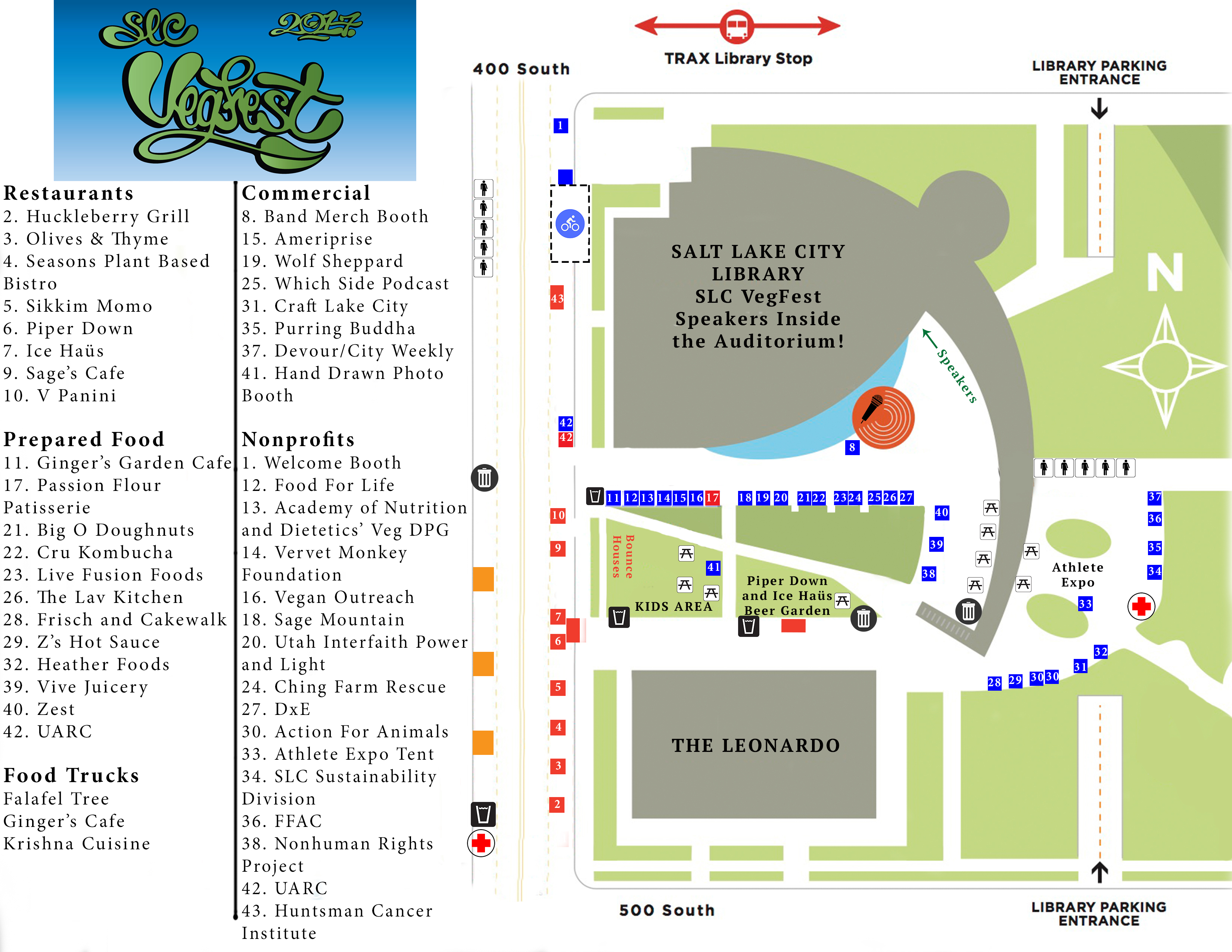 SLC VegFest 2017 Map